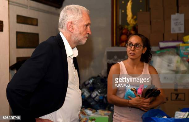 Labour leader Jeremy Corbyn meeting staff and volunteers at St Clements Church in west London who have provided shelter and support for people...