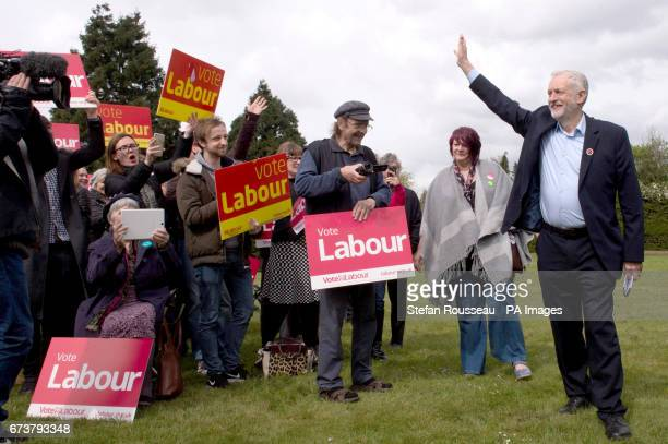 Labour leader Jeremy Corbyn meets supporters at a rally in Harlow Essex