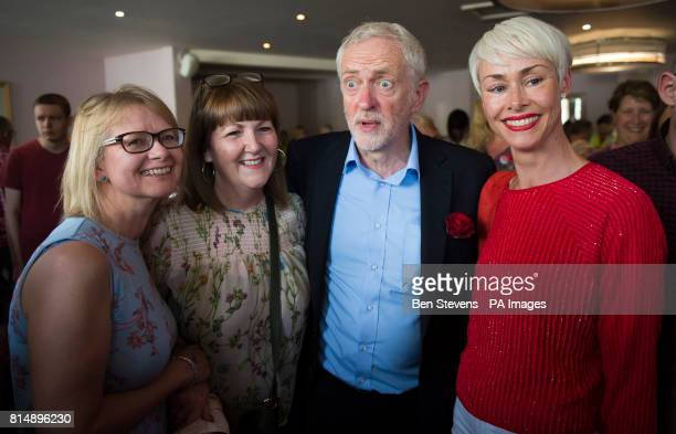 Labour leader Jeremy Corbyn meets supporters at the Bournemouth West Cliff Hotel during a visit to Bournemouth
