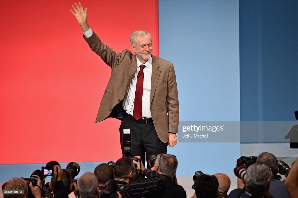 Labour leader Jeremy Corbyn receives applause following his first leadership speech on September 29, 2015 in Brighton, England. The four day annual Labour Party Conference takes place in Brighton and is expected to attract thousands of delegates with keynote speeches from influential politicians and over 500 fringe events.