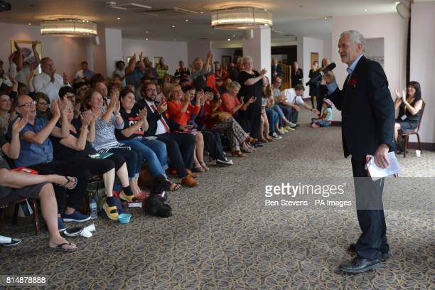 Labour leader Jeremy Corbyn speaking at the Bournemouth West Cliff Hotel during a visit to Bournemouth