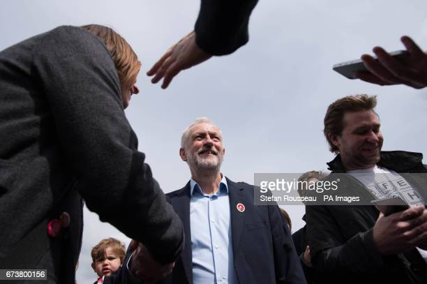 Labour leader Jeremy Corbyn speaks to supporters at a rally in Harlow Essex