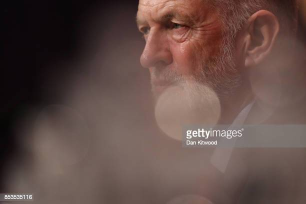 Labour Leader Jermey Corbyn sits in the main hall after Shadow Chancellor John McDonnell delivered his keynote speech during day two of the Labour...