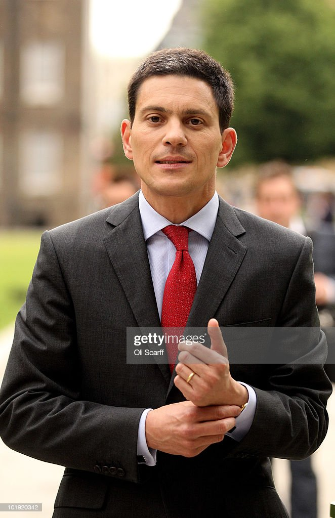 Labour leadership candidate <a gi-track='captionPersonalityLinkClicked' href=/galleries/search?phrase=David+Miliband&family=editorial&specificpeople=206702 ng-click='$event.stopPropagation()'>David Miliband</a> walks to a television studio near Parliament on June 9, 2010 in London, England. A ballot will be taken of Labour party, trade union members, MPs and MEPs to select the next leader of the labour party from shortlist of: Diane Abbott, Ed Balls, Andy Burnham, <a gi-track='captionPersonalityLinkClicked' href=/galleries/search?phrase=David+Miliband&family=editorial&specificpeople=206702 ng-click='$event.stopPropagation()'>David Miliband</a> and Ed Miliband. The result of the ballot is due to be announced during Labour party conference on September 25, 2010.