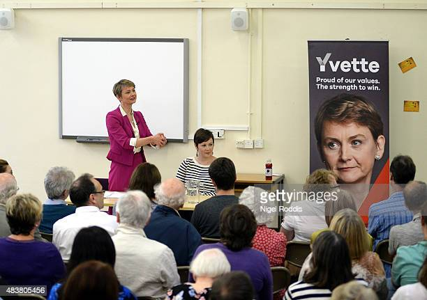 Labour leadership candidate Yvette Cooper attends a meeting with local party members at the Library on August 13 2015 in Bolton England Cooper said...