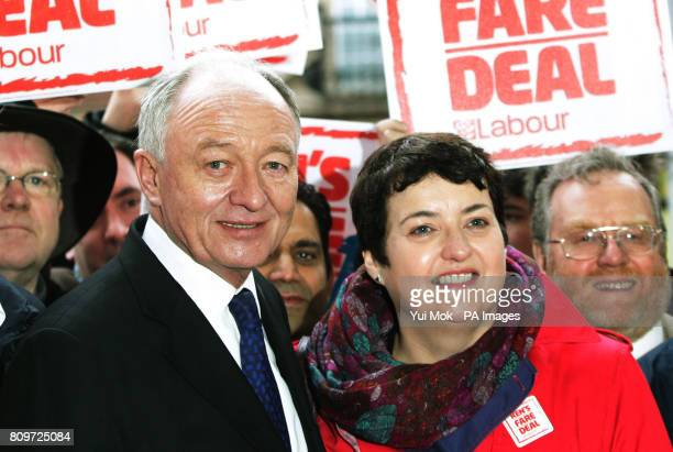 Labour London Mayoral candidate Ken Livingstone with his deputy running mate Labour London Assembly transport spokesperson Val Shawcross during the...