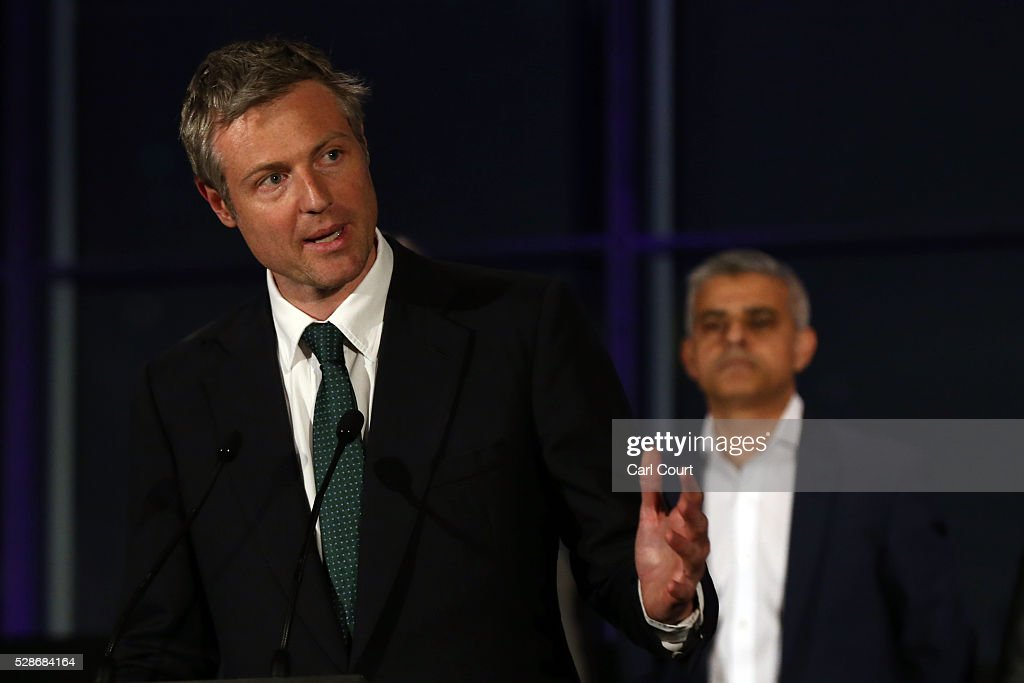 Labour mayoral candidate Sadiq Khan (R) looks on as Zac Goldsmith makes a speech after Khan was announced as London mayor following local elections, on May 07, 2016 in London, England. After months of campaigning Mr Khan won the London mayoral race with 56.8 percent of the vote beating Conservative Party candidate Zac Goldsmith into second place.
