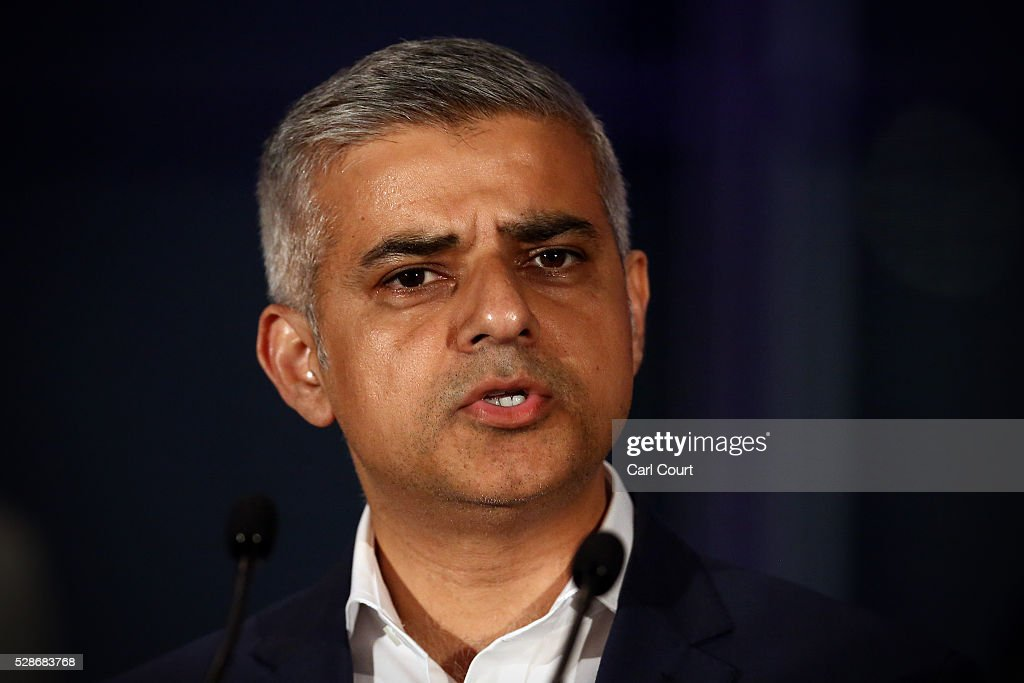 Labour mayoral candidate Sadiq Khan speaks after being announced as London mayor following local elections, on May 07, 2016 in London, England. After months of campaigning Mr Khan won the London mayoral race with 56.8 percent of the vote beating Conservative Party candidate Zac Goldsmith into second place.