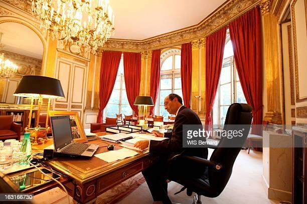 Labour Minister Eric Woerth Paris lundi 6 septembre 2010 8 heures Eric WOERTH reçoit l'équipe de 'Paris Match' au ministère du Travail rue de...
