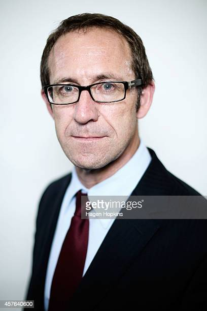 Labour MP Andrew Little poses during the Labour leadership election husting at Wellington Girls College on October 22 2014 in Wellington New Zealand...