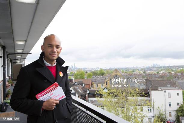 Labour MP Chuka Umunna's general election campaign launch in Streatham on April 22 2017 in London England