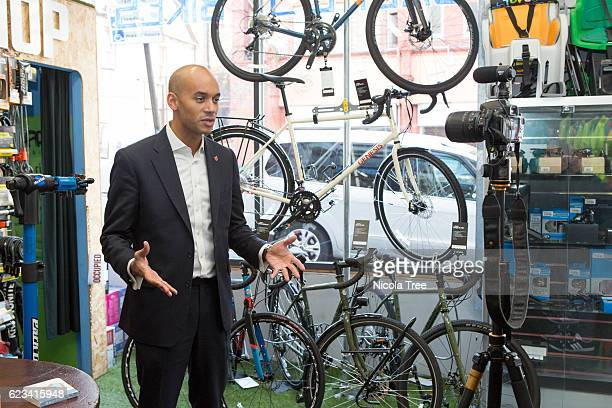 Labour MP for Streatham Chuka Umunna visits local business Balfes Bikes to promote the forthcoming Small Business Saturday on November 11 2016 in...