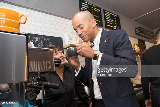 Labour MP for Streatham Chuka Umunna visits local business Batch Co Coffee to promote the forthcoming Small Business Saturday on November 11 2016 in...