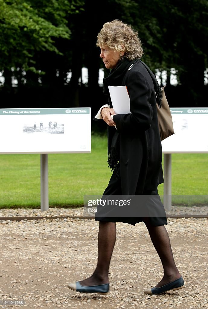 Labour MP <a gi-track='captionPersonalityLinkClicked' href=/galleries/search?phrase=Kate+Hoey&family=editorial&specificpeople=2371024 ng-click='$event.stopPropagation()'>Kate Hoey</a> attends a service to mark the 100th anniversary of the beginning of the Battle of the Somme at the Thiepval memorial to the Missing on July 1, 2016 in Thiepval, France. The event is part of the Commemoration of the Centenary of the Battle of the Somme at the Commonwealth War Graves Commission Thiepval Memorial in Thiepval, France, where 70,000 British and Commonwealth soldiers with no known grave are commemorated.