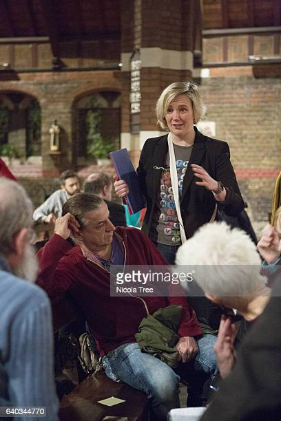 Labour MP Stella Creasy attends a meeting of her constituency party ahead of Wednesday's coming Brexit vote on January 29 2017 in Walthamstow England...