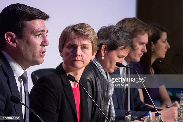 Labour MPs Andy Burnham Yvette Cooper Mary Creagh Tristram Hunt and Liz Kendall address delegates at the Progress annual conference in central London...