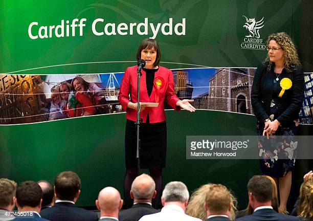 Labour parliamentary candidate Jo Stevens is elected as MP for Cardiff Central taking the seat from the Liberal Democrat's Jenny Willott at the Sport...