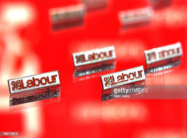 Labour Party badges go on sale at the Labour Party conference on September 24 2007 in Bournemouth England This is Mr Brown's first keynote conference...