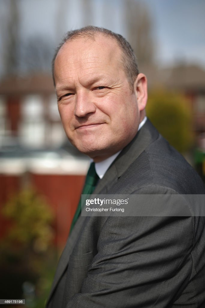 Labour party candidate Simon Danczuk campaigns on the streets of Rochdale as the second week of electioneering comes to a close on April 10 2015 in...