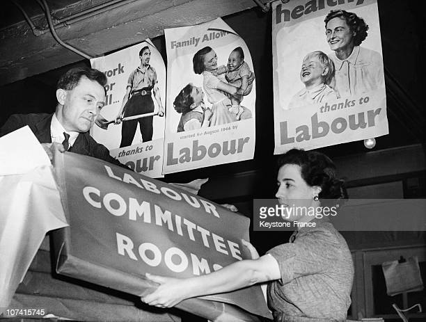 Labour Party Electoral Posters In London On January 1950