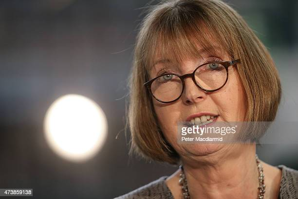 Labour party interim leader Harriet Harman speaks to reporters and supporters on May 18 2015 in London England Mrs Harman said 'These are dark days...
