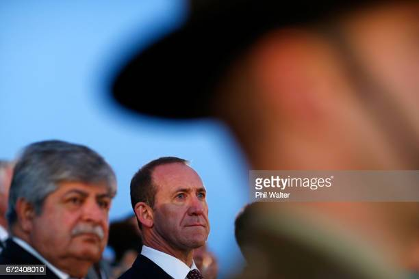 Labour Party leader Andrew Little during the Dawn Service at the Auckland War Memorial Museum on April 25 2017 in Auckland New Zealand In 1916 the...