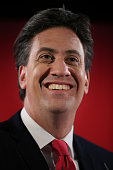 Labour Party leader Ed Miliband listens to questions from an audience on April 28 2015 in Barry Wales Mr Miliband is expected to outline immigration...