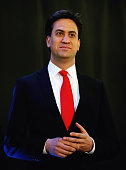 Labour Party leader Ed Miliband pictured after winning his Constituency Declaration during the 2015 general election at Doncaster Racecourse on May 8...