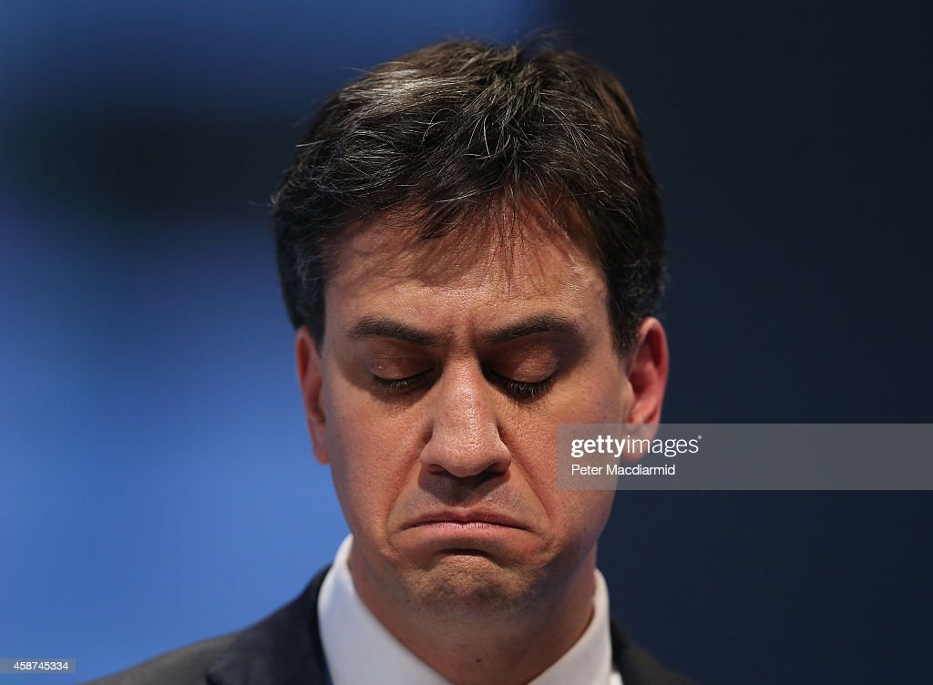 Labour Party Leader <a gi-track='captionPersonalityLinkClicked' href=/galleries/search?phrase=Ed+Miliband&family=editorial&specificpeople=4376337 ng-click='$event.stopPropagation()'>Ed Miliband</a> speaks at The Confederation of British Industry (CBI) annual conference on November 10, 2014 in London, England. The CBI is the leading lobby group for businesses in the United Kingdom