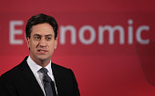 Labour Party leader Ed Miliband speaks to business leaders on December 11 2014 in London England Mr Miliband is setting out the Labour party's future...