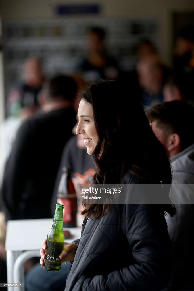 Labour Party Leader Jacinda Ardern Attends Rugby League match