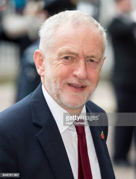 Labour Party leader Jeremy Corbyn attends a Service to mark the 77th anniversary of The Battle Of Britain at Westminster Abbey on September 17 2017...
