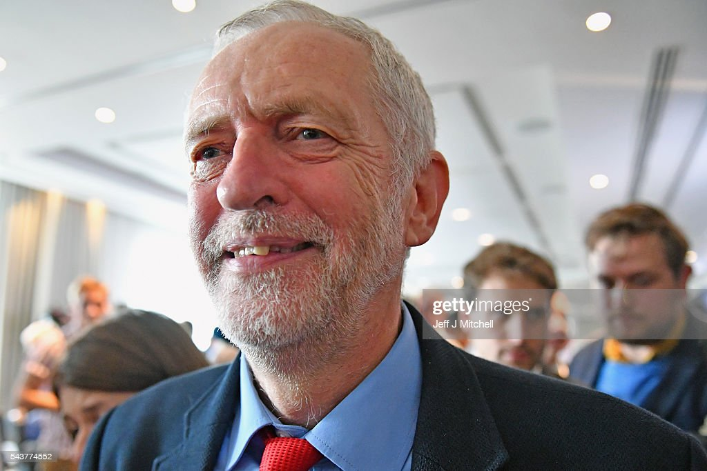 Labour Party Leader <a gi-track='captionPersonalityLinkClicked' href=/galleries/search?phrase=Jeremy+Corbyn&family=editorial&specificpeople=2596361 ng-click='$event.stopPropagation()'>Jeremy Corbyn</a> attends Anti Semitism inquiry findings at Savoy Place, on June 30, 2016 in London England.The Labour leader said there was no acceptable form of racism as he was speaking after the launch of a report by the former director of Liberary, Shami Chakrabarti.