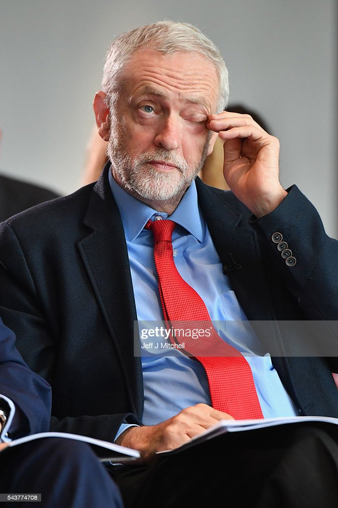Labour Party Leader <a gi-track='captionPersonalityLinkClicked' href=/galleries/search?phrase=Jeremy+Corbyn&family=editorial&specificpeople=2596361 ng-click='$event.stopPropagation()'>Jeremy Corbyn</a> attends anti-semitism inquiry findings at Savoy Place, on June 30, 2016 in London England.The Labour leader said there was no acceptable form of racism as he was speaking after the launch of a report by the former director of Liberary, Shami Chakrabarti.