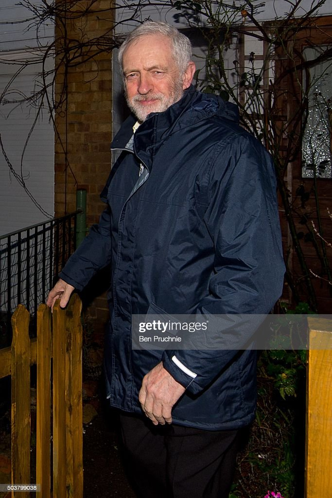 Jeremy Corbyn Departs His North London Home