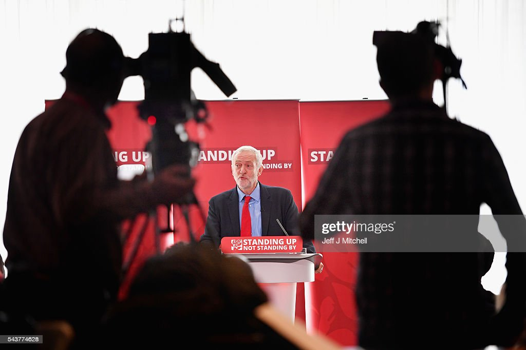 Labour Party Leader <a gi-track='captionPersonalityLinkClicked' href=/galleries/search?phrase=Jeremy+Corbyn&family=editorial&specificpeople=2596361 ng-click='$event.stopPropagation()'>Jeremy Corbyn</a> speaks as he attends anti-semitism inquiry findings at Savoy Place, on June 30, 2016 in London England.The Labour leader said there was no acceptable form of racism as he was speaking after the launch of a report by the former director of Liberary, Shami Chakrabarti.