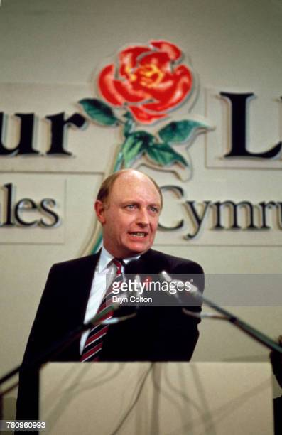 Labour Party leader Neil Kinnock speaking at the Welsh Labour Party Conference during the 1987 general election campaign Llandudno Wales 15th May 1987