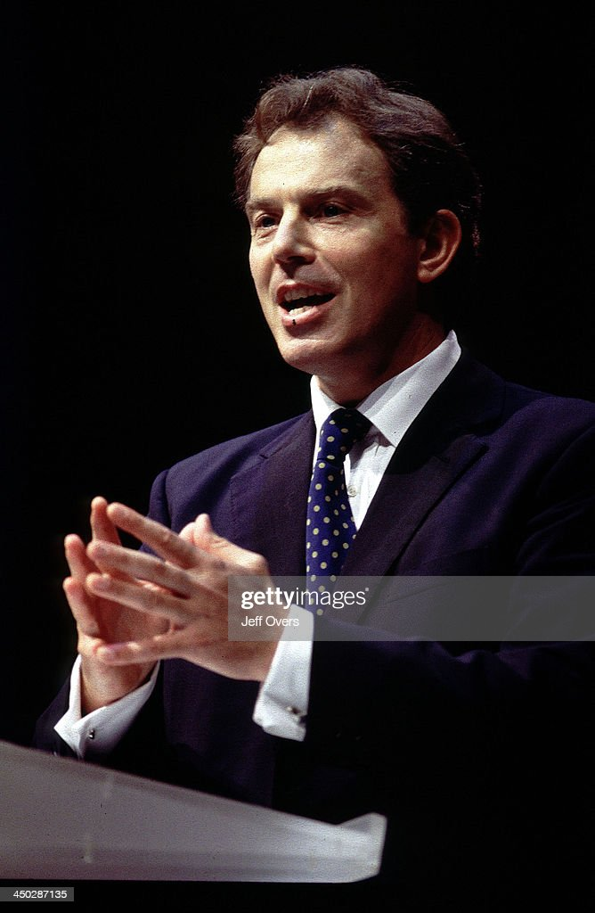 Labour party leader Prime Minister Tony Blair gives the keynote address at the Labour party conference The conference held at Brighton was Tony...