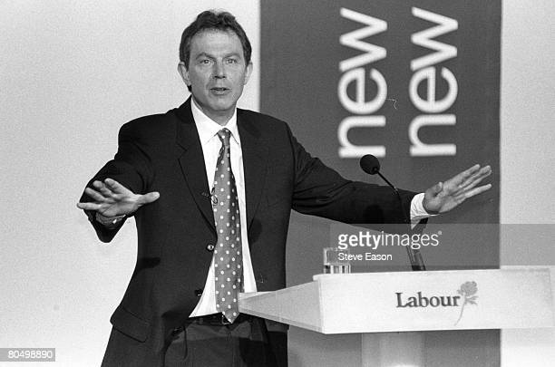 Labour Party leader Tony Blair at an election rally in Edmonton London 19th April 1997