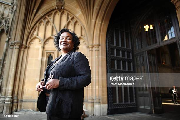 Labour Party leadership candidate Diane Abbott poses for a portrait at the entrance to The Great Hall Parliament on June 28 2010 in London England Ed...