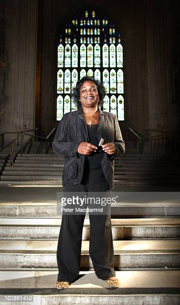 Labour Party leadership candidate Diane Abbott poses for a portrait in The Great Hall Parliament on June 28 2010 in London England Ed Balls David...