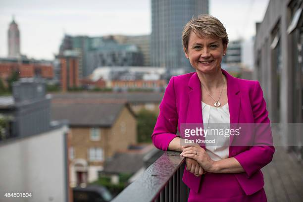 Labour party leadership candidate Yvette Cooper Labour Party MP for Normanton Pontefract and Castleford poses for a portrait on August 19 2015 in...