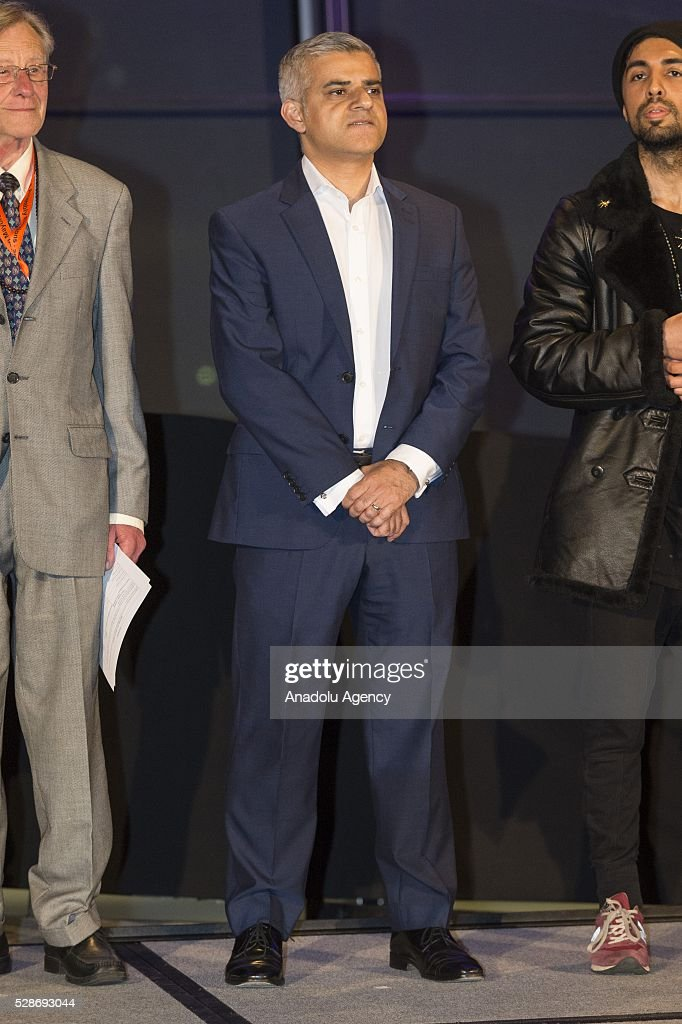 Labour Party mayoral candidate Sadiq Khan looks on after Khan is announced as the new mayor of London after votes had been calculated at City Hall in London, Britain, 06 May 2016. Khan becomes London's first muslim mayor.