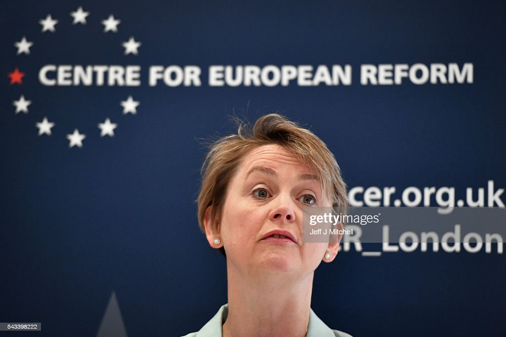 Labour Party MP <a gi-track='captionPersonalityLinkClicked' href=/galleries/search?phrase=Yvette+Cooper&family=editorial&specificpeople=2486558 ng-click='$event.stopPropagation()'>Yvette Cooper</a> gives a speech on where next for Britain following the EU referendum on June 28, 2016 in London, England. In a speech at the Centre for European Reform, <a gi-track='captionPersonalityLinkClicked' href=/galleries/search?phrase=Yvette+Cooper&family=editorial&specificpeople=2486558 ng-click='$event.stopPropagation()'>Yvette Cooper</a> said that a plan is urgently needed to bring the country together and forge Britains new relationship alongside the European Union.