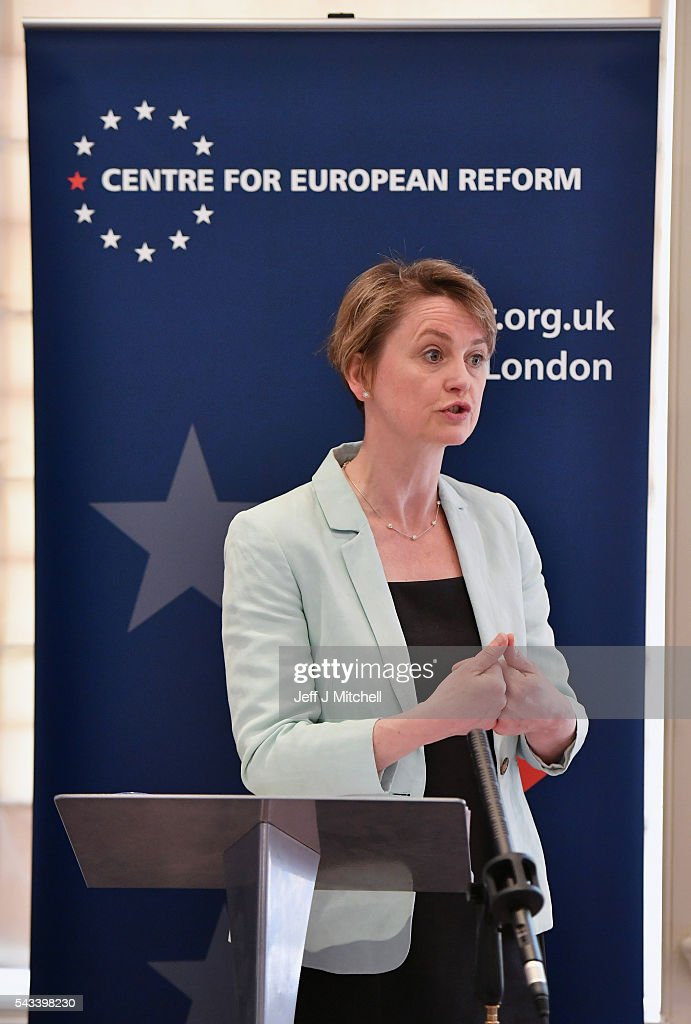 Labour Party MP <a gi-track='captionPersonalityLinkClicked' href=/galleries/search?phrase=Yvette+Cooper&family=editorial&specificpeople=2486558 ng-click='$event.stopPropagation()'>Yvette Cooper</a>, gives a speech on where next for Britain following the EU referendum on June 28, 2016 in London, England. In a speech at the Centre for European Reform, <a gi-track='captionPersonalityLinkClicked' href=/galleries/search?phrase=Yvette+Cooper&family=editorial&specificpeople=2486558 ng-click='$event.stopPropagation()'>Yvette Cooper</a> said that a plan is urgently needed to bring the country together and forge Britains new relationship alongside the European Union.