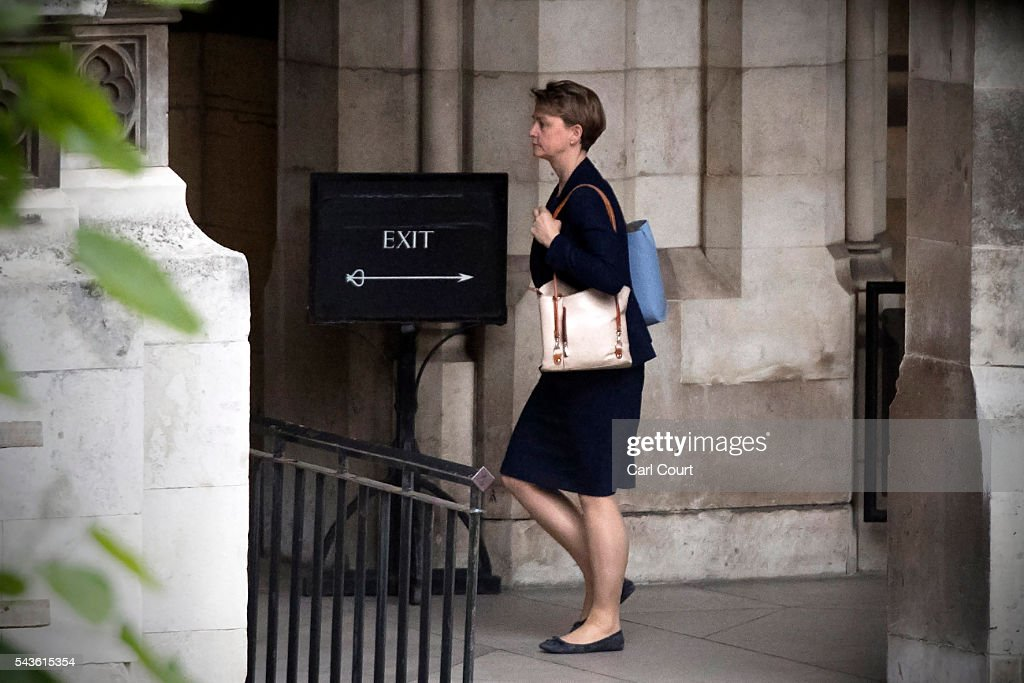 Labour Party MP <a gi-track='captionPersonalityLinkClicked' href=/galleries/search?phrase=Yvette+Cooper&family=editorial&specificpeople=2486558 ng-click='$event.stopPropagation()'>Yvette Cooper</a> walks through the Houses of Parliament on June 29, 2016 in London, England. Labour Party leader Jeremy Corbyn faced continued calls to step down today as former party leader Ed Miliband and Prime Minister David Cameron both urged him to resign.
