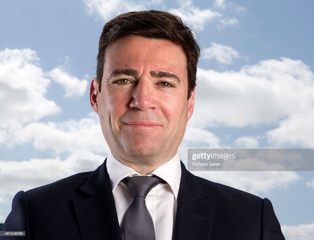 UK Labour party politician <a gi-track='captionPersonalityLinkClicked' href=/galleries/search?phrase=Andy+Burnham&family=editorial&specificpeople=469823 ng-click='$event.stopPropagation()'>Andy Burnham</a> is photographed for the Observer on May 16, 2015 in London, England.
