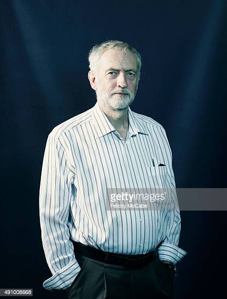 Labour party politician Jeremy Corbyn is photographed for the New Statesman on September 22 2015 in London England