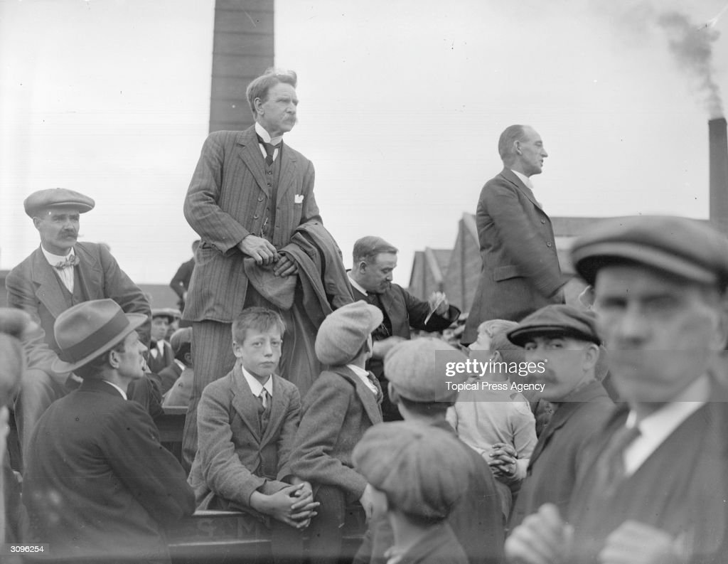 Labour politician and president of the Scottish Miners' Federation Robert Smillie (1857 - 1940) during the miners' protest against profiteers. Smillie was also President of the Miner's Federation of Great Britain (1912 - 1921) and was elected Labour MP for Morpeth (1923 - 1929).