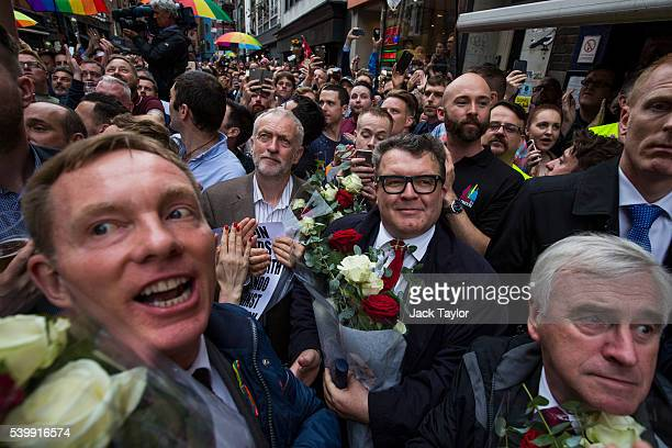 Labour politician Chris Bryant Labour Leader Jeremy Corbyn Deputy Labour Leader Tom Watson and Shadow Chancellor John McDonnell attend a vigil for...